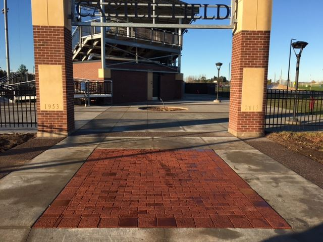 Entrance at Castle Field with donor pavers