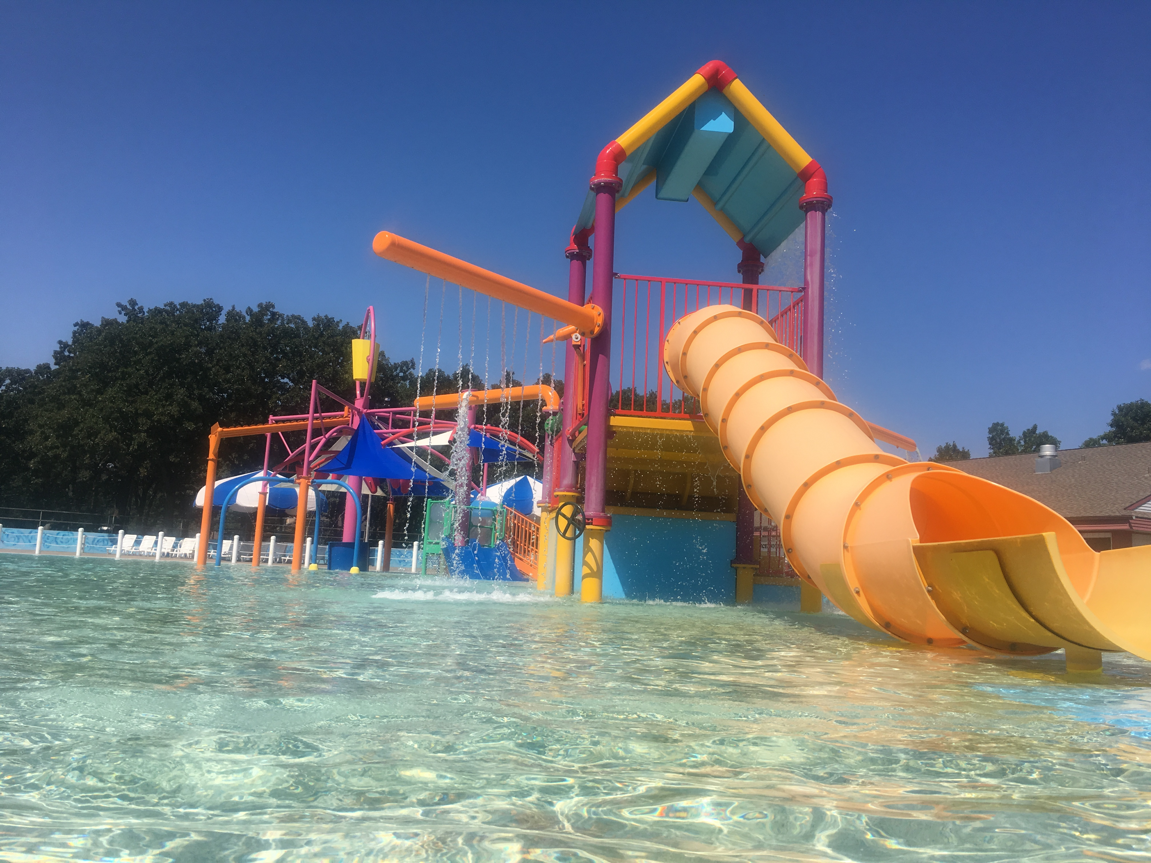 Water Slide and Playground Structure